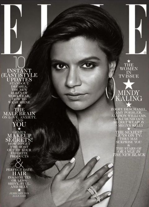 mindy kaling elle magazine cover racist