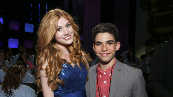 Katherine McNamara and Cameron Boyce attend the Radio Disney Music Awards at the Nokia Theatre on Saturday, April 27, 2013 in Los Angeles. (Photo by Todd Williamson /Invision/AP)