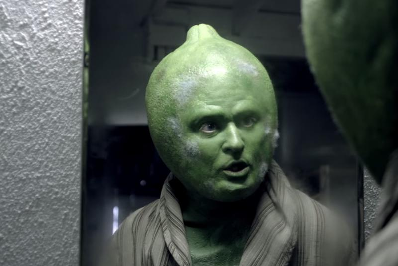 Justin Timberlake dressed up as a sad lime to sell tequila