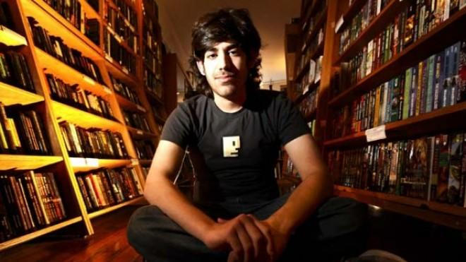 The late Aaron Swartz in a San Francisco bookstore on Feb. 4, 2008.