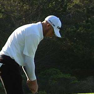 Tyler Aldridge birdies No. 1 at AT&T Pebble Beach