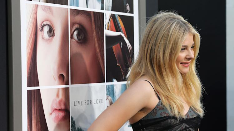 Chloe Grace Moretz seen at the Los Angeles World Premiere of New Line Cinema's and Metro-Goldwyn-Mayer Pictures' 'If I Stay' held at TCL Chinese Theatre on Wednesday, August 20, 2014, in Hollywood. (Photo by Eric Charbonneau/Invision for Warner Bros./AP Images)