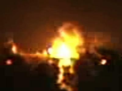 Barge Explosion Caught on Camera