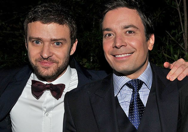 "Justin Timberlake and Jimmy Fallon attend GQ's 2011 ""Men of the Year"" Party held at Chateau Marmont on November 17, 2011 in Los Angeles, California."