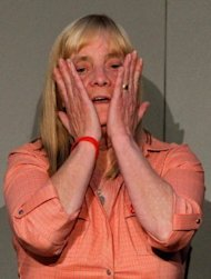"<p>Hillsborough Family Support Group member Margaret Aspinall, the mother of Hillsborough victim James Aspinall, reacts during a press conference at Liverpool's Anglican Cathedral on September 12. Prime Minister David Cameron apologised Wednesday to the families of the 96 victims of the 1989 Hillsborough football stadium disaster for the ""double injustice"" they suffered.</p>"