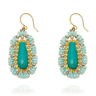 Green earrings by Astley Clarke: Chandelier Earrings