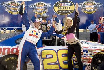 Will Ferrell and Leslie Bibb in Columbia's Talladega Nights: The Ballad of Ricky Bobby