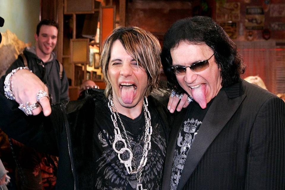 Criss Angel and Gene Simmons attend a party launching Dussault Apparel's concept store.