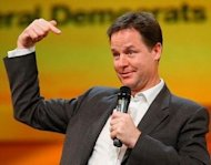 Laughing matter: Clegg mocks Cameron veto at Xmas party
