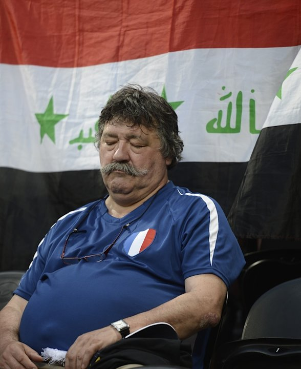 A French Fan Sleeps AFP/Getty …