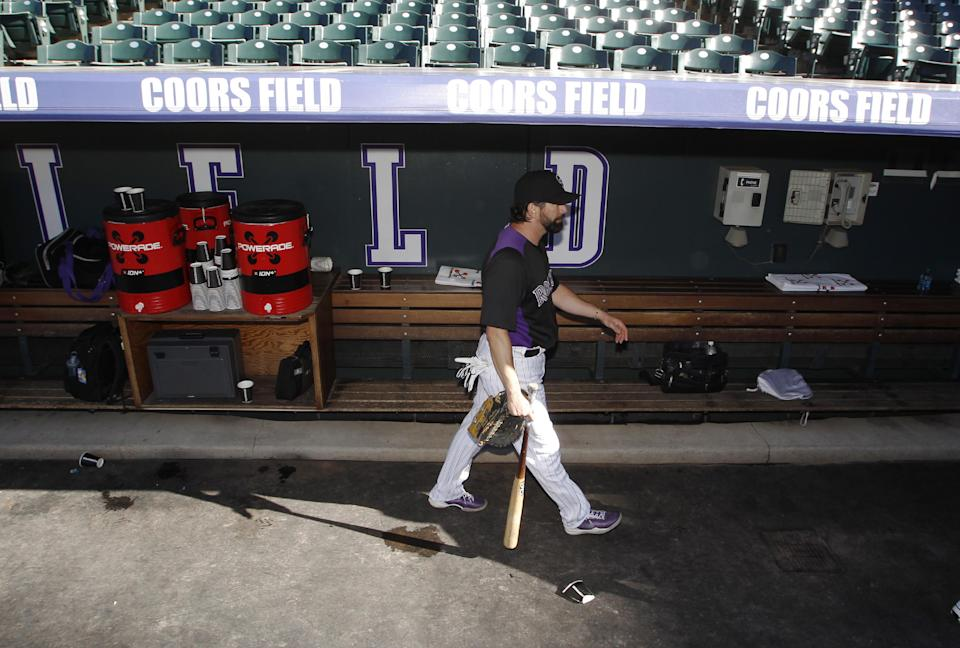 Helton plays in final home game Wednesday