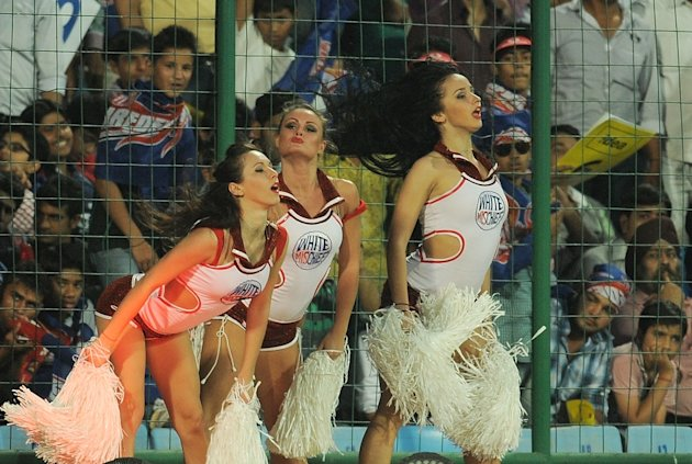 Cheerleaders and Celebrities at IPL