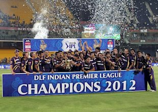 Kolkata Knight Riders players celebrate