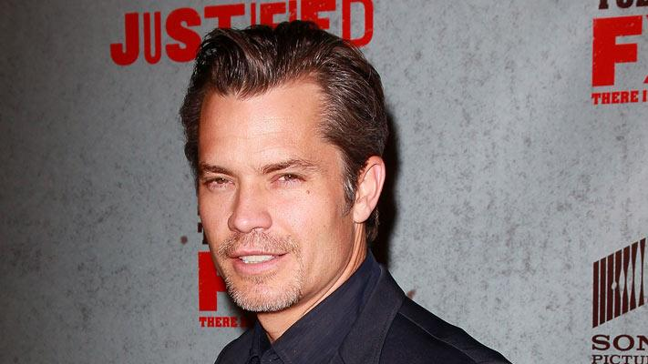 "Timothy Olyphant attends the Season 3 premiere of FX's ""Justified"" at the Directors Guild on January 10, 2012 in Los Angeles, California."