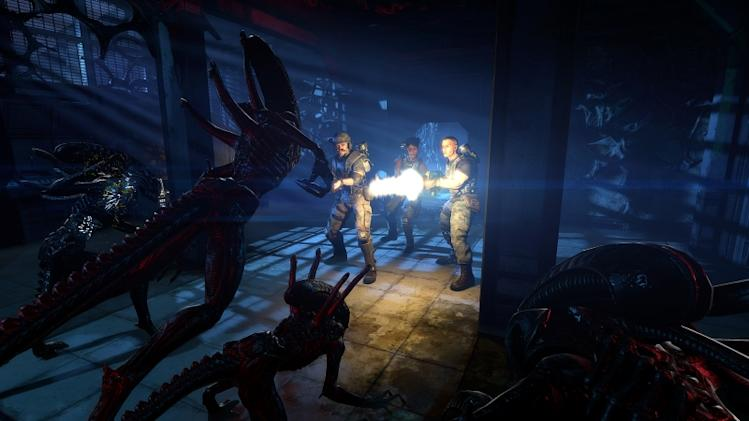"This video game image released by Sega shows a scene from ""Aliens: Colonial Marines."" (AP Photo/Sega)"