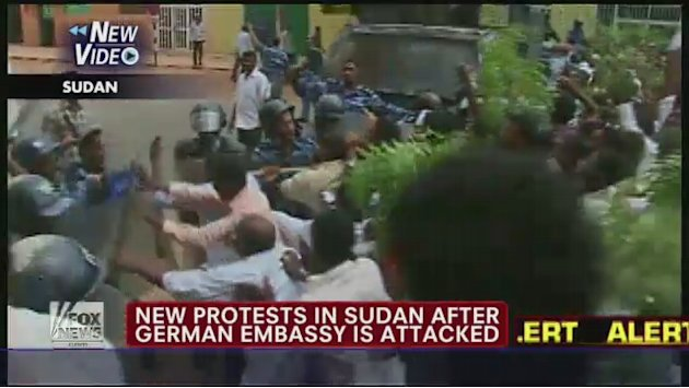 Violent protesters attack German embassy in Sudan