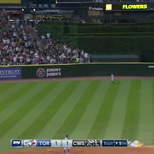 Pillar's leaping catch