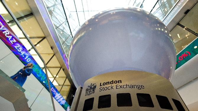London's FTSE 100 index dropped 1.49 percent in morning trading to 6,101.58 points