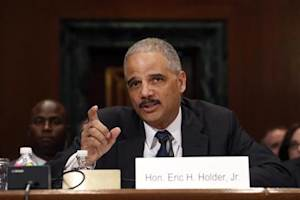 U.S. Attorney General Holder testifies about his FY2015 budget request at a Senate Appropriations Committee hearing on Capitol Hill in Washington