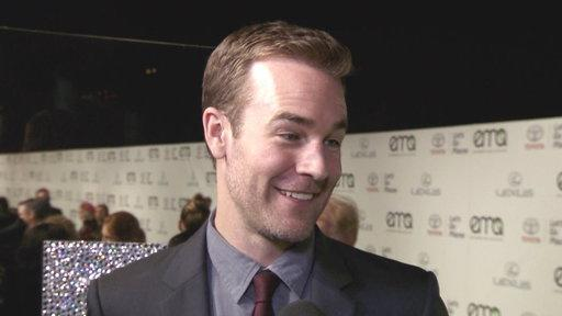 2013 EMAs: James Van Der Beek Goes Paper Towel Free