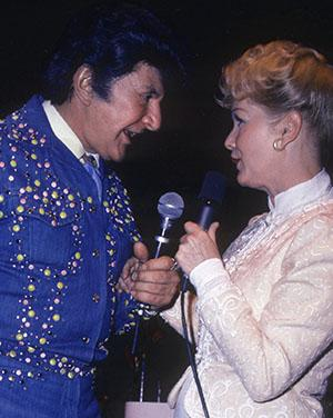 Liberace and Debbie Reynolds