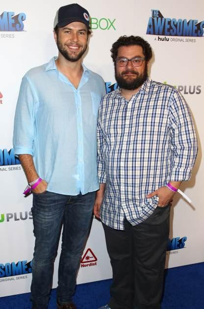 Taran Killam and Bobby Moynihan attend 'The Awesomes' VIP After-Party sponsored by Hulu and Xbox at Andaz on July 20, 2013 in San Diego -- Getty Images