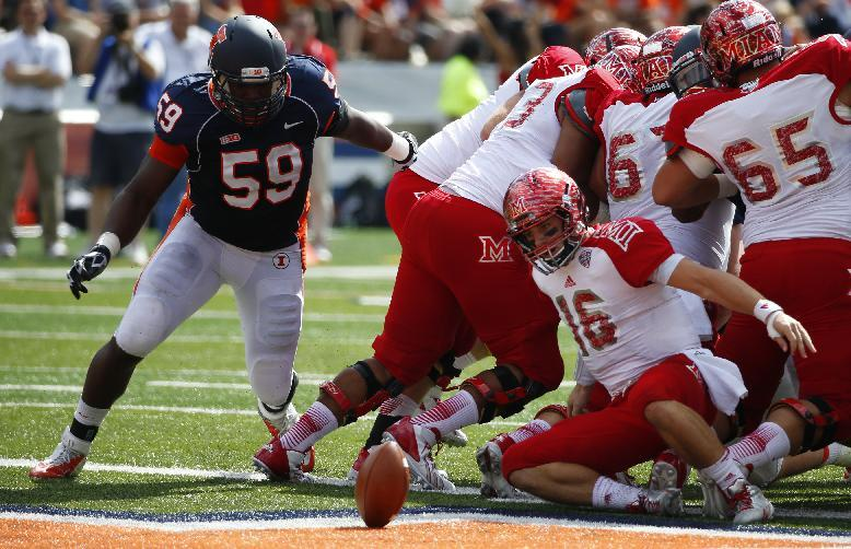 Illinois blows by Miami (OH), 50-14