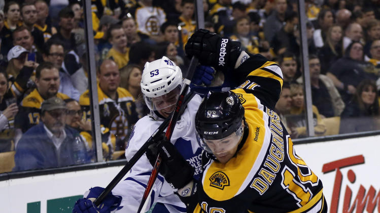 NHL: Stanley Cup Playoffs-Toronto Maple Leafs at Boston Bruins