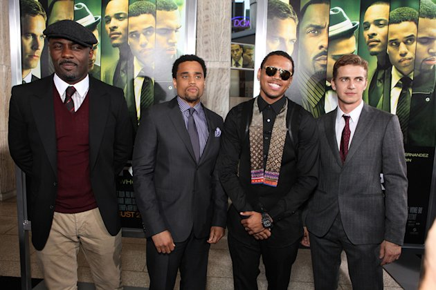 Takers LA Premiere 2010 Idris Elba Michael Ealy Chris Brown Hayden Christensen