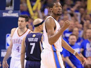 Durant, Thunder edge Grizzlies 93-91 in Game 1