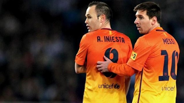 Iniesta and Messi