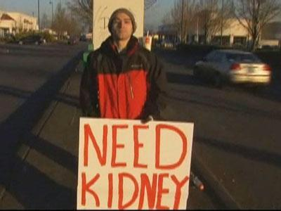 Ore. Man Solicits Motorists for New Kidney
