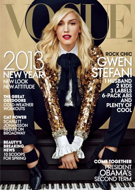 Gwen Stefani on the cover of the Vogue January 2013 issue -- Vogue