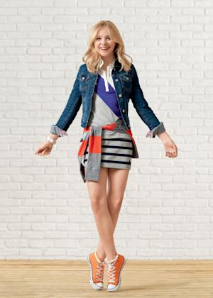 This image provided by Aeropostale shows actress Chloe Moretz wearing fashions from Aeropostale. The 15-year-old actress will be featured in advertisements through the spring, largely wearing clothing she picked and styled herself, and will curate collections in-store and online of her favorite things. (AP Photo/Aeropostale)