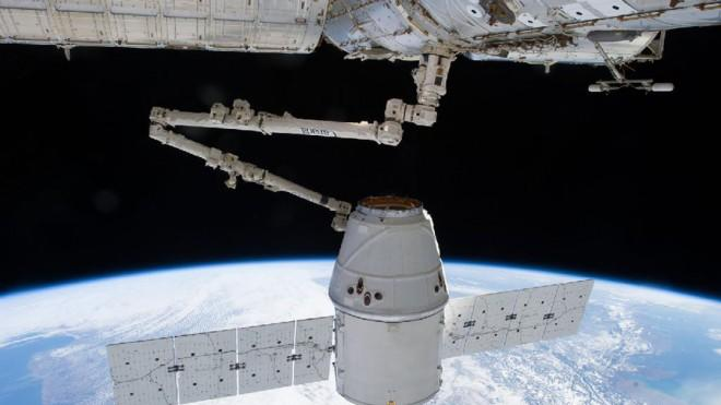 The SpaceX Dragon successfully docks at the International Space Station on March 3.