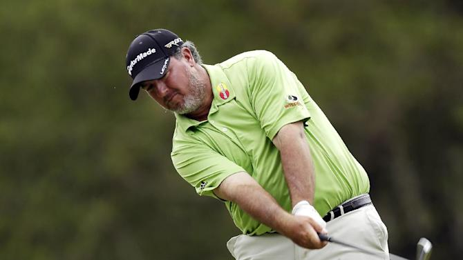 Boo Weekley hits his tee shot on the 17th hole during the final round of the Tampa Bay Championship golf tournament, Sunday, March 17, 2013, in Palm Harbor, Fla. Weekley finished the tournament second. (AP Photo/Chris O'Meara)