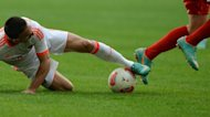 Bayern Munich's Franck Ribery (L) fights for the ball with Duesseldorf's Robbie Kruse during their German first division Bundesliga match in the western German city of Duesseldorf, on October 20. Bayern currently hold a five-point lead at the top of the league and host Bayer Leverkusen at Munich's Allianz Arena on Sunday