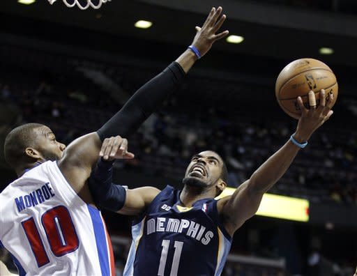 Grizzlies win 4th straight, 105-91 over Pistons