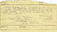 La nota escrita por Tim Taylor a los 13 a&#xf1;os, en 1972 (ABC News)
