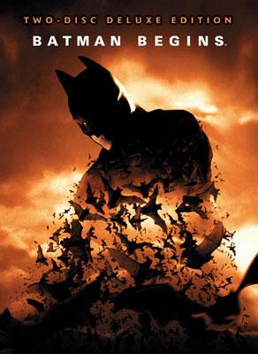 The box art for Warner Bros. Pictures' DVD release of Batman Begins