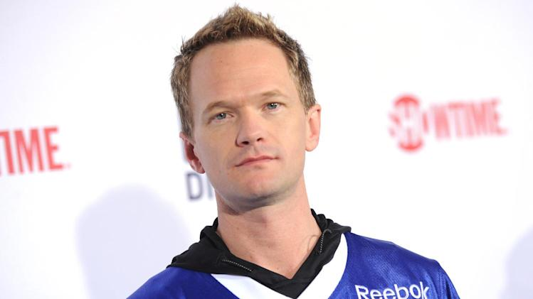 Neil Patrick Harris arrives at DIRECTV's Seventh Annual Celebrity Beach Bowl, on Saturday, Feb. 2, 2013 in New Orleans. (Photo by Evan Agostini/Invision/AP)