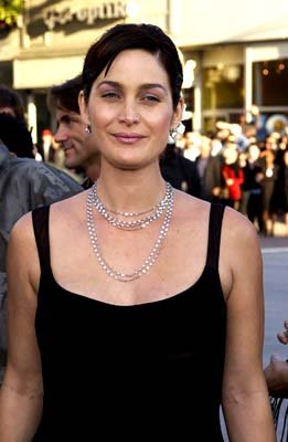 Premiere: Carrie Anne Moss of The Crew at the Hollywood premiere of Warner Brothers' The Matrix: Reloaded - 5/7/2003