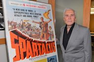 "Actor Kirk Douglas attends the last 70mm film screening of ""Spartacus"" at AMPAS Samuel Goldwyn Theater on August 13, 2012 in Beverly Hills, California"