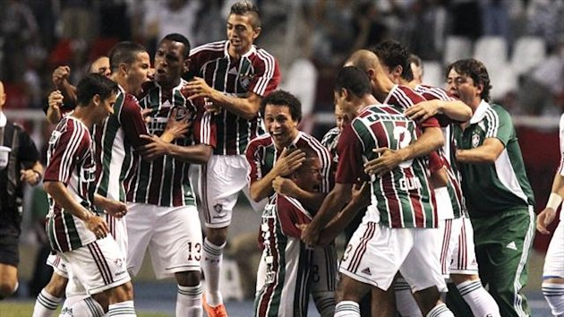 Fluminense players celebrate (Reuters)