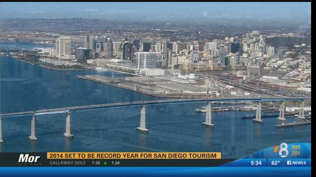 2014 set to be record year for San Diego tourism