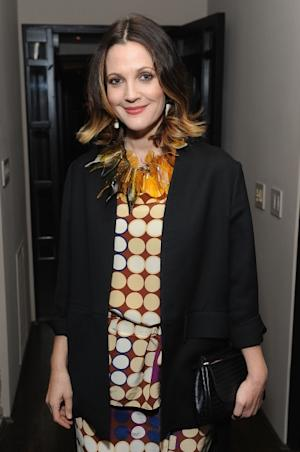 Drew Barrymore arrives at the Marni at H&M Collection Launch at Lloyd Wright's Sowden House in Los Angeles on February 17, 2012 -- Getty Images