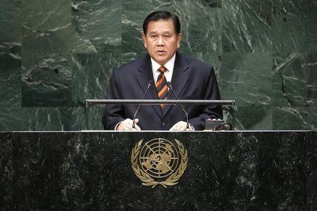 Thailand's Deputy Prime Minister and Foreign Minister General Patimapragorn addresses the 69th United Nations General Assembly at the U.N. headquarters in New York