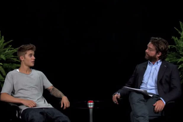 Justin Bieber Addresses Anne Frank Comments with Zach Galifianakis (Video)