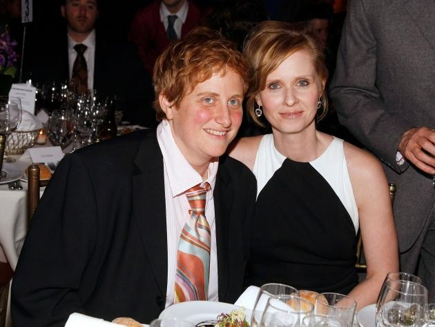 Cynthia Nixon (right) poses with Christine Marinoni at the at the Point Foundation 'Point Honors The Arts' Benefit at Capitale in New York City on March 7, 2008  -- Getty Premium