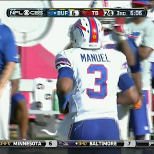 Buffalo Bills quarterback EJ Manuel throws 3rd interception